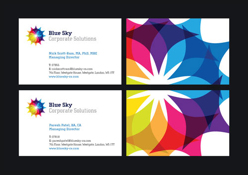 Delightful Colorful Business Card