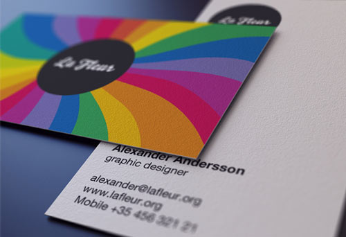 Agreeable Colorful Business Card