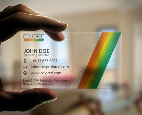 Winning Colorful Business Card
