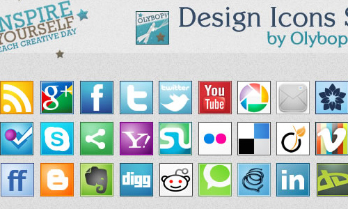 Social icons pack 3