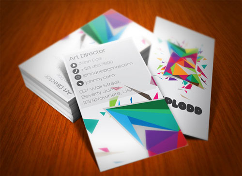 Indeed Colorful Business Card