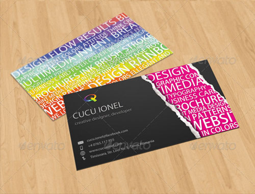 Highly Competitive Colorful Business Card