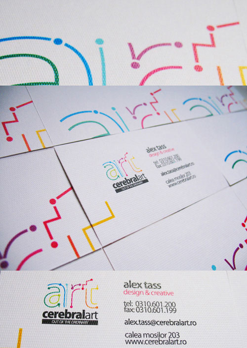 Highly Commendable Colorful Business Card