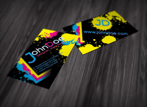 Looked Up to Colorful Business Card