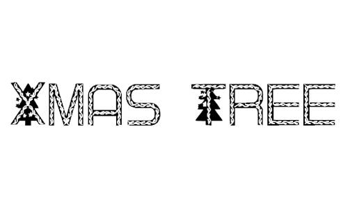 Xmas Tree font