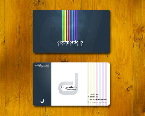 Admired Colorful Business Card
