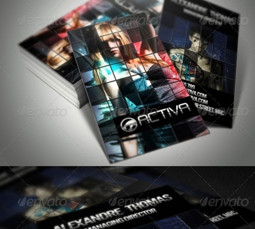 Grid Style Business Card