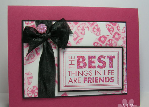 Artistic friendship card