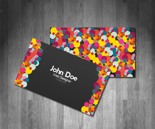 Artistically Colorful Business Card