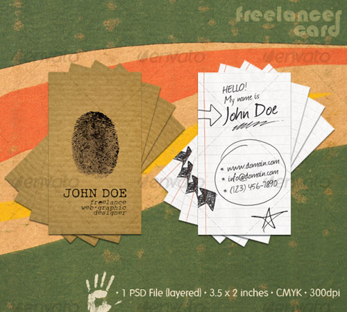 Freelancer Business Card