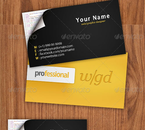 50 cool premium business card templates naldz graphics webgraphic designer business card reheart Image collections