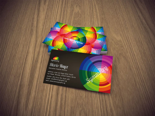 Nice and Colorful Business Card