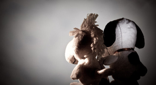 Touching Stuffed Toys Photography