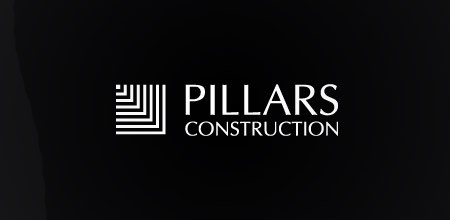 pillars constructions logo design