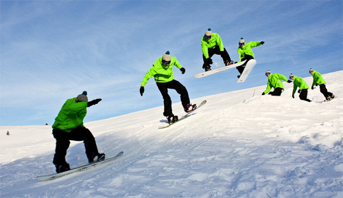 Snowboarding Sequence