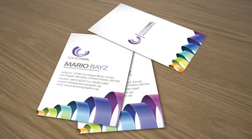 Simply Colorful Business Card