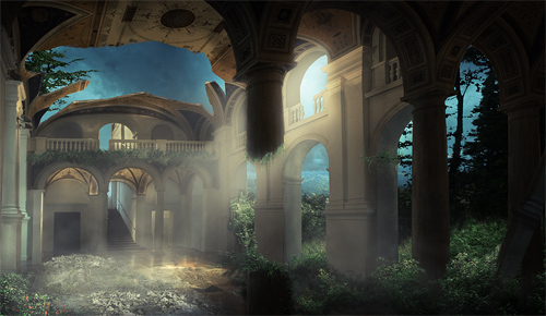 Gallery-matte painting