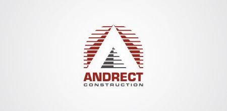 andrect construction logo design