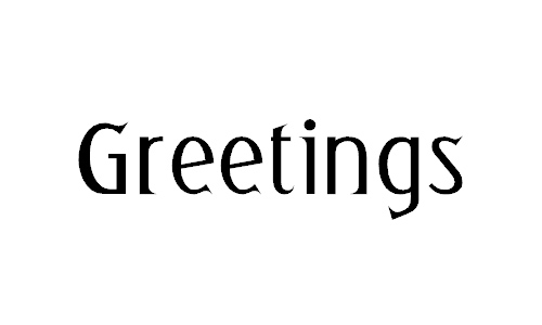 Greetings font