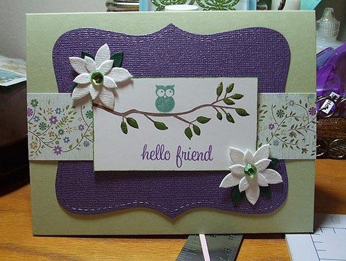 With love friendship card