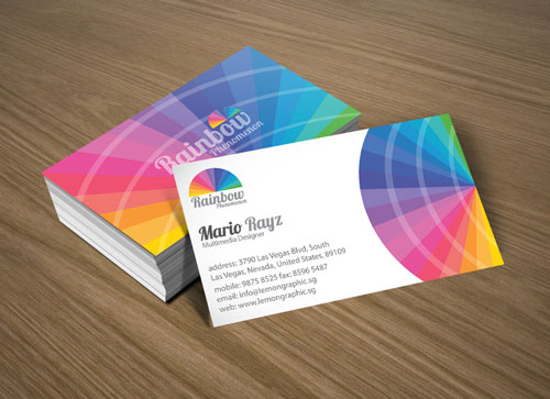 Neatly Colorful Business Card