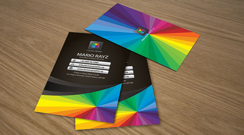 Pretty Colorful Business Card
