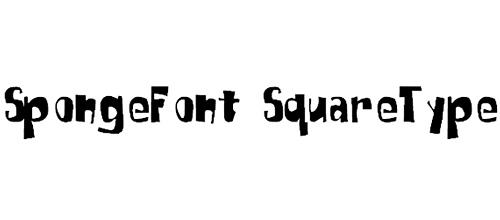 SpongeFont SquareType font