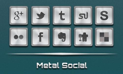 Metal Social Icons