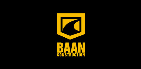 baan construction logo design