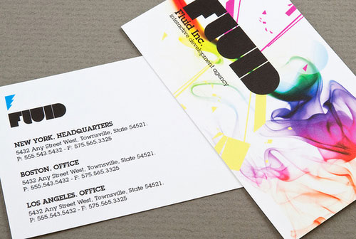 Amazingly Colorful Business Card