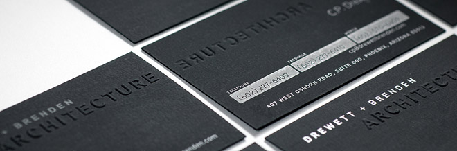 A Showcase of Classy Black Business Card Designs