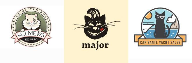 40 Inspiring Designs of Cat Logos