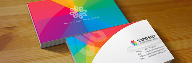 40 Commendable Multicolored Business Cards