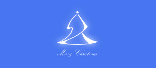 blue Christmas logo design