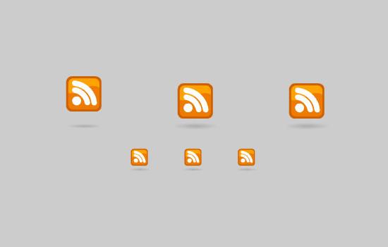 3d RSS Buttons
