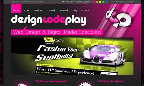 Very Expressive Pink Themed site
