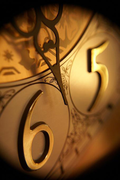 Stylish in gold clock photo