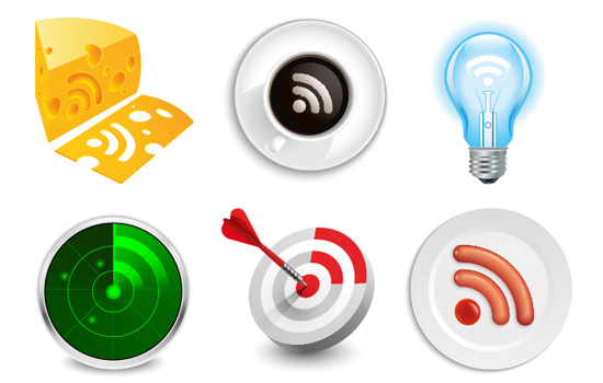 Free Vector Pack - RSS Icons - Creative Collection