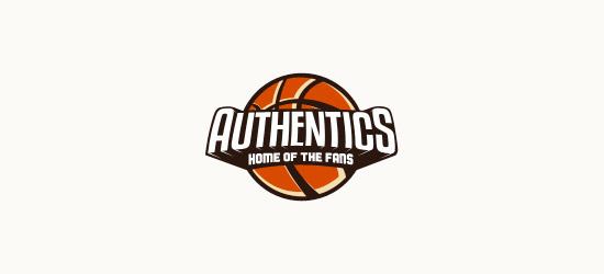 authentics basketball logo design