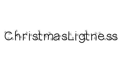 Christmas lightness font free