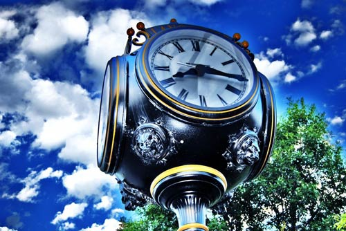 Inspired with time clock photo