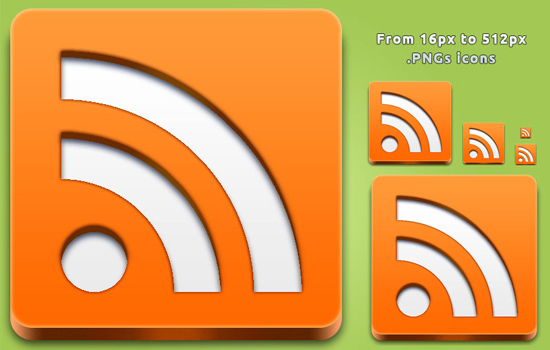 RSS Feed 3D Button v1.0