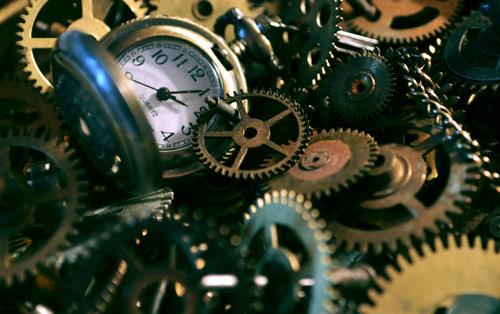 Mechanical clock photo