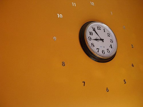 Creative clock display