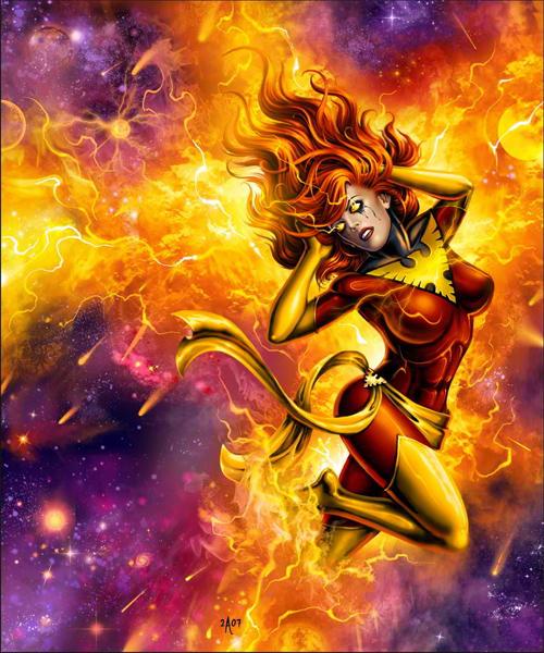 dark phoenix angry