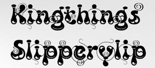 Real Slippery Funky Font