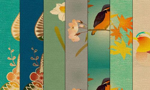 Cheerful Silk Fabric Texture