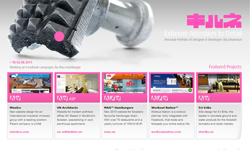 Beautiful Pink Themed site