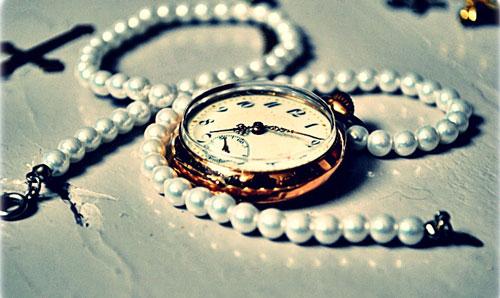 Accessorized clock photo