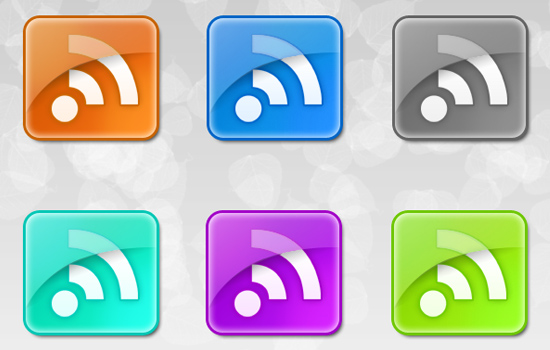 RSS Shiny Icons Web 2.0